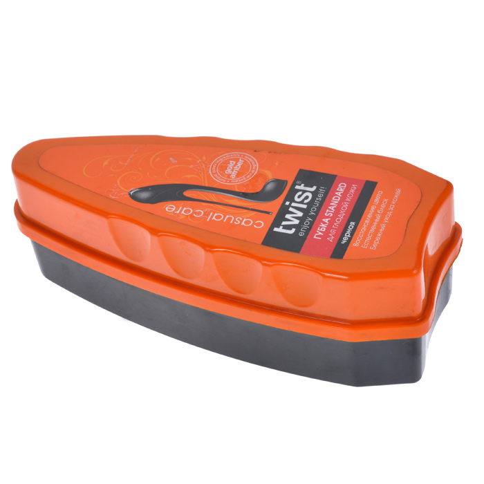 Губка Standard для гладкой кожи Twist Casual, цвет: чернаяMW-3101Губка Standard Twist Casual предназначена для чистки и придания блеска обуви из гладкой кожи. Входящие в состав комплекса компоненты золотистого янтаря способствуют активной защите от внешних неблагоприятных факторов, а также восстановлению и смягчению кожи. Характеристики: Материал:пластик, поролон. Размер: 13 см х 5 см х 4,5 см. Артикул:TW03-C0056.