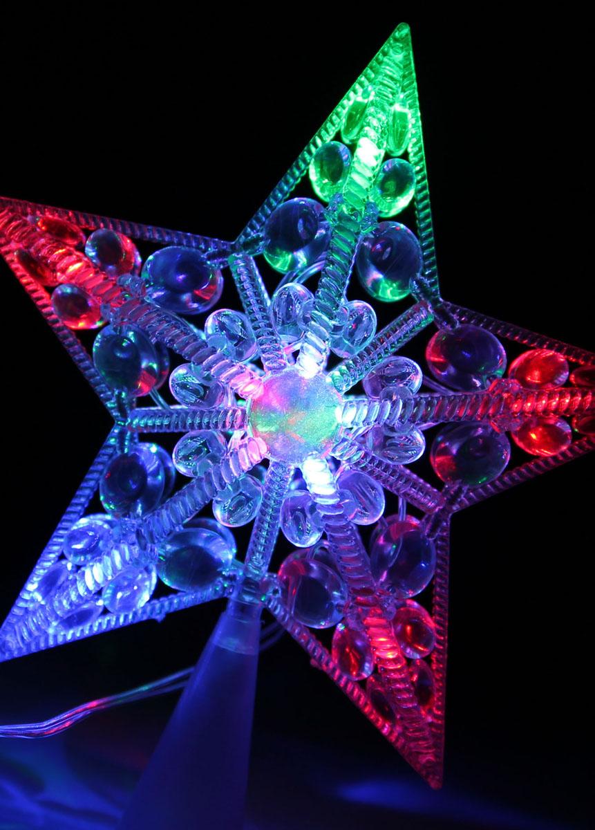 Светодиодная звезда Космос, 10 светодиодов, цвет: мультиколор541530Светодиодная звезда Космос предназначена для праздничного оформления елки, помещения. Звезда оснащена 10 светодиодами, которые светятся различными цветами. Перегорание одного светодиода не ведет к выходу из строя звезды. Светодиодная звезда Космос создаст праздничную атмосферу и наполнит ваш дом радостью и позитивной энергией. Характеристики:Материал: пластик. Цвет свечения: мультиколор. Электропитание (от сети): 230 В. Количество светодиодов: 10 шт. Длина шнура: 2 м. Размер звезды: 17 см х 17 см х 4 см. Артикул: KOC_STAR10LED_RGB.