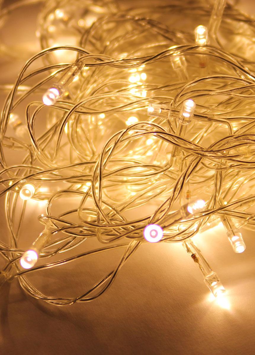 Светодиодная гирлянда Космос Маленькие лампочки, 80 светодиодов, цвет свечения: белый, 8,8 мKOC_GIR80LED_RGBСветодиодная гирлянда Космос Маленькие лампочки с пластиковыми насадками в виде небольших лампочек отлично подойдет для украшения новогодней елки, окна или стены. На гирлянде расположено 80 лампочек. Провод гирлянды прозрачного цвета оснащен прямоугольным контролером с кнопкой для переключения восьми режимов. Режимы мигания электрогирлянды: combination (комбинированный); in wales (волна); sequentian (последовательный); slo-glo;chasing/flash (чеканка/вспышка) ; slow fade (медленное затухание);twinkle/flash (мерцание/вспышка); steady on (постоянный). Светодиодная гирлянда Космос Маленькие лампочки создаст праздничную атмосферу и наполнит ваш дом радостью и позитивной энергией. Характеристики:Материал: пластик. Цвет свечения: белый. Количество светодиодов: 80 шт. Длина гирлянды: 8,8 м. Диаметр лампочки: 0,3 см. Режимы мигания: 8. Электропитание (от сети): 230 В. Артикул: KOC_GIR80LED_W.