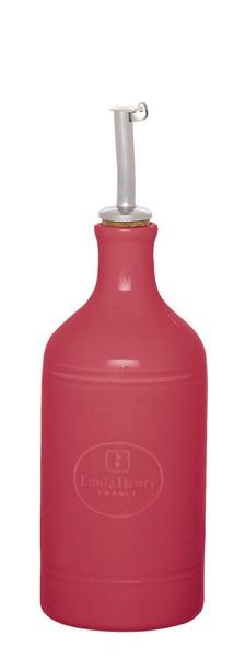 Бутылка для масла и уксуса Emile Henry Urban Colors, цвет: малиновый, 450 млВетерок 2ГФСочные краски и аутентичный дизайн бутылки для масла и уксуса Emile Henry Urban Colors, выполненной из глазурованной керамики, станут ярким штрихом на вашей кухонной полке. Вы нальете ровно столько масла, сколько нужно, не уронив ни одной лишней капли, ведь металлическая крышка с носиком снабжена клапаном антикапля, не допускающим пролива. Стенки бутылки светонепроницаемые, поэтому ее можно хранить в открытом шкафу, не волнуясь, что ваше лучшее оливковое масло потеряет вкус и аромат.Диаметр дна бутылки: 7,5 см.Высота бутылки с учетом носика: 23,5 см.