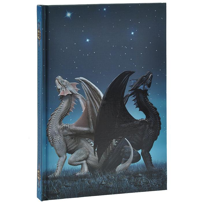 """Магический дневник """"Драконис"""" - это тайное и сокровенное место для записи и хранения ваших мыслей, важных откровений и осознаний. Обложка выполнена из плотного картона с красочными иллюстрациями черного и белого драконов. Первый и последний листки дневника разлинованы. Внутренний блок содержит 160 неразлинованных страниц белого цвета. Для выделения страницы предусмотрено атласное ляссе голубого цвета. Чтобы дневник хранил ваши сокровенные мысли, необходимо тщательно подбирать его с учетом вашей индивидуальности, тогда он будет в гармонии с вами в вашей магической работе."""