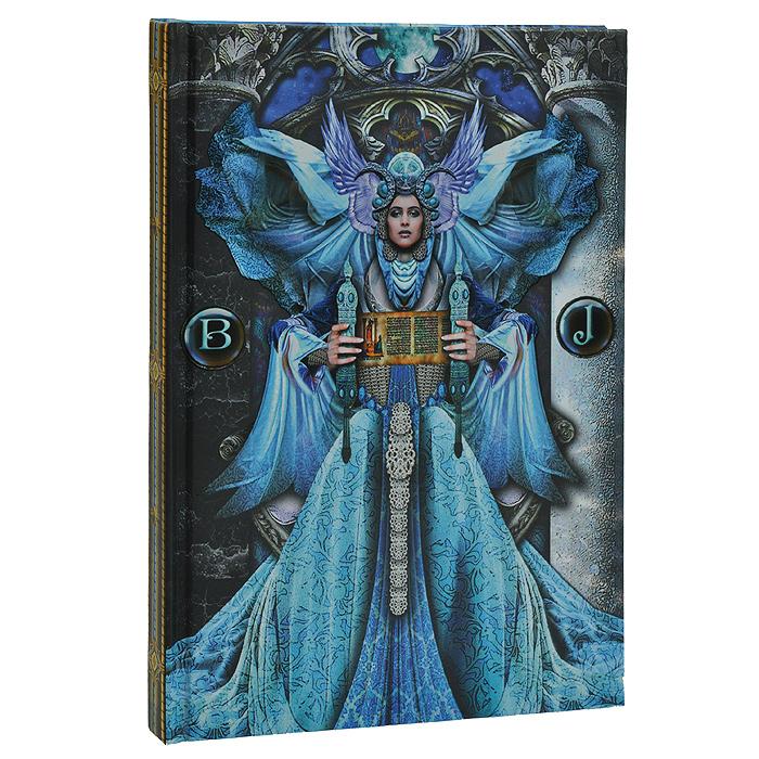 """Магический дневник """"Иллюминаты"""" - это тайное и сокровенное место для записи и хранения ваших мыслей, важных откровений и осознаний. Обложка выполнена из плотного картона с красочными таинственными иллюстрациями. Первый и последний листки дневника разлинованы. Внутренний блок содержит 160 неразлинованных страниц белого цвета. Для выделения страницы предусмотрено атласное ляссе голубого цвета. Чтобы дневник хранил ваши сокровенные мысли, необходимо тщательно подбирать его с учетом вашей индивидуальности, тогда он будет в гармонии с вами в вашей магической работе."""