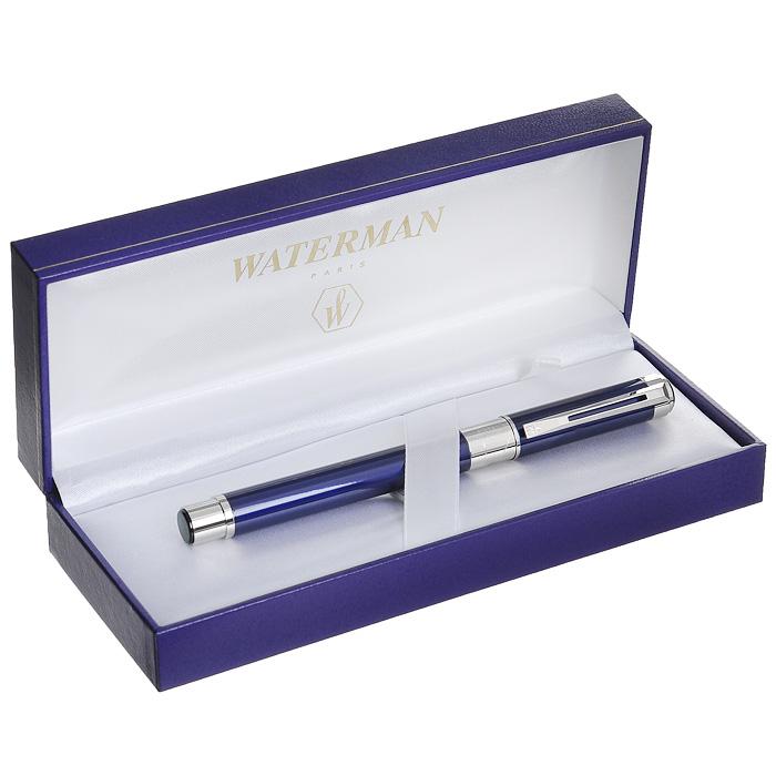 """Ручка Waterman """"Perspective Blue CT"""" с открытым пером, состоит из корпуса, картриджа для чернил и металлического раздвоенного пера. Корпус ручки выполнен из латуни с многослойным лаковым покрытием синего цвета. Отдельные элементы дизайна имеют никеле-палладиевое покрытие. Перо из нержавеющей стали декорировано гравировкой и логотипом """"Waterman"""". Ручка имеет картриджную систему заправки, она оснащена унифицированным посадочным местом на верхней части фидера, куда устанавливается стандартный картридж с чернилами (входит в комплект). Картридж запаян полиэтиленовой крышкой. Ручка упакована в фирменный футляр с логотипом компании """"Waterman"""". В футляре предусмотрено дополнительное отделение, в котором расположен международный гарантийный талон и картридж с чернилами. Эксклюзивная перьевая ручка Waterman """"Perspective Blue CT"""" подчеркнет стиль и элегантность ее владельца и станет превосходным подарком ценителю изящества роскоши. Ручка - это не просто пишущий..."""