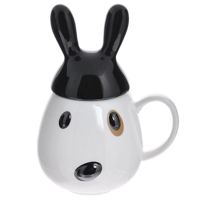 Кружка Кролик с черной крышкой002946Кружка с крышкой Кролик изготовлена из высококачественной керамики и декорирована рельефным изображением в виде забавного черно-белого кролика. Такая кружка станет незаменимым атрибутом чаепития, а оригинальный дизайн вызовет улыбку. Такая кружка станет не только приятным подарком, но и практичным сувениром. Характеристики:Материал: керамика. Диаметр кружки по верхнему краю: 6 см. Высота кружки без крышки:9,5 см. Размер упаковки: 13 см х 10,5 см х 12 см. Производитель: Китай. Артикул: 002946.