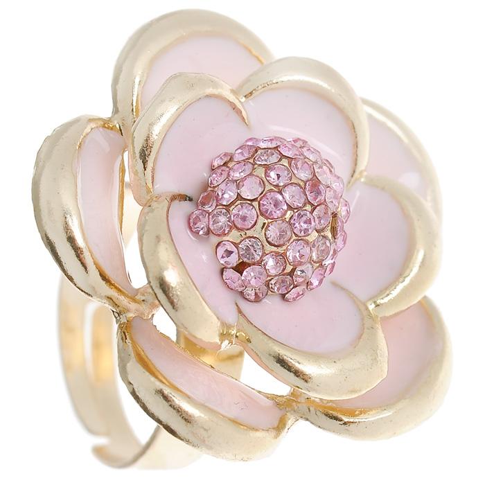 Кольцо Marmalato, цвет: золотистый, розовый. 399-392Коктейльное кольцоОригинальное кольцо Marmalato, выполненное из металла золотистого цвета, украшено цветком со стразами. Кольцо позволит вам с легкостью воплотить самую смелую фантазию и создать собственный, неповторимый образ. Характеристики:Материал: металл, стразы. Цвет: золотистый, розовый. Размер декоративного элемента: 2,8 см. Минимальный диаметр кольца:1,7 см. Размер кольца: универсальный. Артикул: 399-392.Рекомендации по использованию: Для того, чтобы бижутерия прослужила долго и не потеряла своего вида, важно соблюдать несложные рекомендации. Желательно, чтобы украшения не находились долгое время вводе. Также не рекомендуется заниматься в украшениях спортом, украшения могут повредиться механически таким образом.Не рекомендуется надевать металлсодержащую бижутерию в солярий и на пляж, долго находиться в ней под открытым солнцем - если, конечно, это не специальная пляжная коллекция украшений. Поскольку есть риск перегрева металла, что может привести к ожогу. Рекомендации по уходу: Для того, чтобы бижутерия сохраняла свой блеск и свой отличный вид, необходимо соблюдать некоторые рекомендации. Рекомендуется хранить украшения отдельно друг от друга, чтобы избежать царапин. Избегайте попадания любых косметических средств, мыла и абразивов. Избегайте соприкосновения с водой. Очищайте изделие с помощью сухой мягкой ткани. Особенно аккуратно очищайте места крепления кристаллов и камней.