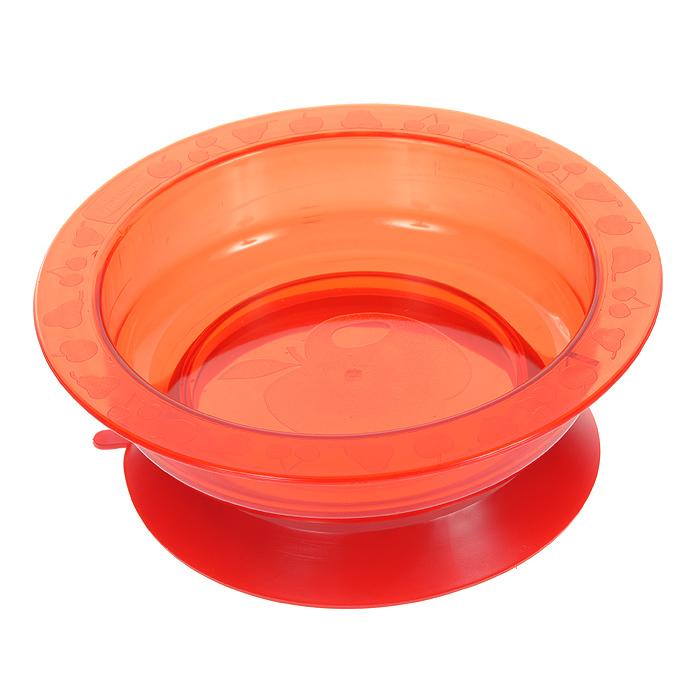 Тарелка на присоске Курносики, цвет: красный115510Пластиковая тарелочка Курносики красного цвета с удобной присоской, идеально подойдет для кормления малыша, и самостоятельного приема им пищи.Тарелочка выполнена из прочного безопасного материала. Специальное резиновое кольцо-присоска фиксирует тарелочку на столе, благодаря чему она не упадет, еда не прольется, а ваш малыш будет доволен. Характеристики:Материал: пластик, резина. Рекомендуемый возраст: от 5 месяцев. Высота тарелки: 5 см. Внешний диаметр тарелки: 17,5 см. Внутренний диаметр тарелки: 14 см Диаметр присоски: 14 см.