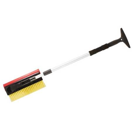 Щетка-скребок для уборки снега FIT, длина 82-130 смVCA-00Щетка-скребок FIT используется для удаления снега и льда. Телескопическая рукоятка с мягкой антискользящей вставкой. Рабочая поверхность щетки фиксируется в пяти положениях. Резиновый вставка для протирания стекол. Щетина не повреждает лакокрасочное покрытие автомобиля. Характеристики: Материал: алюминий, пластик, резина. Длина ручки: min - 82 см, max - 130 см. Длина щетины: 5 см. Размер упаковки: 91 см х 15 см х 6 см.