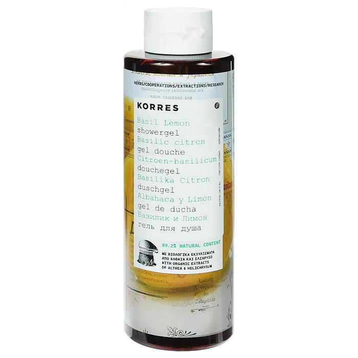 Korres Гель для душа Базилик и лимон, 250 млAC-2233_серый89, 2% натуральных ингредиентов. Для любого возраста, для всех типов кожи. Можно использовать для детей с 3-х лет. Идеальное средство для ежедневного использования. Превращаясь в кремовую пену, гель обеспечивает интенсивный смягчающий и увлажняющий эффект, сохраняющийся надолго. Протеины пшеницы образуют защитную пленку на поверхности кожи, обеспечивая длительное увлажнение. Гель обладают красивым нежным ароматом базилика и лимона.* Активный экстракт алоэ - увлажнение, антиоксидант, поддерживает кожный иммунитет * Протеины пшеницы - образуют защитную пленку на коже * Протеины овса - образуют защитную пленку на кожеНаносите на влажную кожу при принятии душа или ванны.