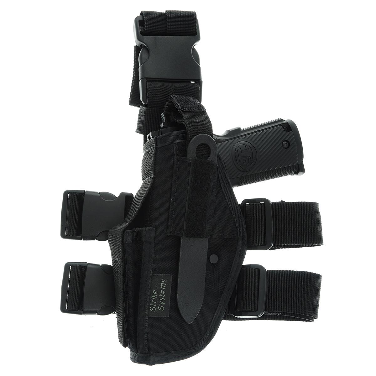 Кобура ASG набедренная для левши для M92, G17/18, STI, CZ, Steyr, Bersa, цвет: Black (17320)23416Кобура набедренная для пневматических и страйкбольных пистолетов серий M92, G17/18, STI, CZ, Steyr, Bersa (полноразмерные и среднеразмерные - Full Frame и Mid Frame) с подсумком для запасного магазина.Для левшей.Предназначена для ношения в тире и на полигоне. Показанные на фото оружие и аксессуары в комплект не входят. Не рассчитана на использование с боевым оружием.Регулируется по высоте.Застежка-фастекс для быстрого снятия.Два эластичных ремня с застежками для бедра.В комплекте приспособление для удобной регулировки.Двойные швы.Из износостойкого и влагостойкого нейлона.Возвраттоваравозможен только при наличии заключения сервисного центра.Время работы сервисного центра: Пн-чт: 10.00-18.00 Пт: 10.00- 17.00Сб, Вс: выходные дниАдрес: ООО ГАТО, 121471, г.Москва,ул.ПетраАлексеева,д12., тел. (495)232-4670, gato@gato.ruХарактеристики: Материал: нейлон, пластик. Размер кобуры (без креплений): 19 см х 11 см х 5 см. Размер упаковки: 36 см х 25 см х 9 см. Артикул: 17320.Уважаемые покупатели, обращаем Ваше внимание что авиадоставка в нижеперечисленные города этого товара временно недоступна! 1. Ангарск 2. Благовещенск 3. Бодайбо 4. Братск 5. Владивосток 6. Воркута 7. Иркутск 8. Калининград 9. Надым 10. Нарьян-Мар 11. Находка 12. Норильск 13. Петропавловск-Камчатский 14. Салехард 15. Улан-Удэ 16. Уссурийск 17. Ухта 18. Хабаровск 19. Чита 20. Энергетик 21. Южно-Сахалинск 22. Якутск