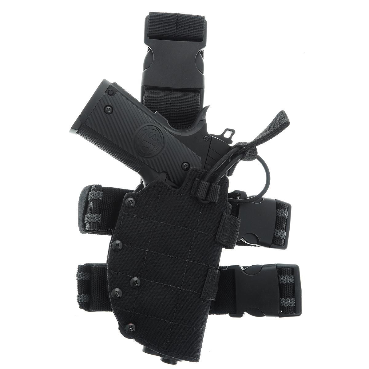 Кобура ASG универс. набедренная с системой быстрого извлечения, цвет: Black (16285)527Кобура набедренная универсальная для пневматических и страйкбольных пистолетовс системой быстрого извлечения оружия нажатием кнопки.Предназначена для ношения в тире и на полигоне. Показанные на фото оружие и аксессуары в комплект не входят.Не рассчитана на использование с боевым оружием.Регулируется по высоте.Застежка-фастекс для быстрого снятия.Страховочная застежка.Два эластичных ремня, прорезиненных с застежками для бедра.Двойные швы.Из износостойкого и влагостойкого нейлона.Возвраттоваравозможен только при наличии заключения сервисного центра.Время работы сервисного центра: Пн-чт: 10.00-18.00 Пт: 10.00- 17.00Сб, Вс: выходные дниАдрес: ООО ГАТО, 121471, г.Москва,ул.ПетраАлексеева,д12., тел. (495)232-4670, gato@gato.ruХарактеристики: Материал: нейлон, пластик. Размер кобуры (без учета креплений): 17 см х 10 см х 4 см. Размер упаковки: 26 см х 25 см х 9 см. Артикул: 16285.Уважаемые покупатели, обращаем Ваше внимание что авиадоставка в нижеперечисленные города этого товара временно недоступна! 1. Ангарск 2. Благовещенск 3. Бодайбо 4. Братск 5. Владивосток 6. Воркута 7. Иркутск 8. Калининград 9. Надым 10. Нарьян-Мар 11. Находка 12. Норильск 13. Петропавловск-Камчатский 14. Салехард 15. Улан-Удэ 16. Уссурийск 17. Ухта 18. Хабаровск 19. Чита 20. Энергетик 21. Южно-Сахалинск 22. Якутск
