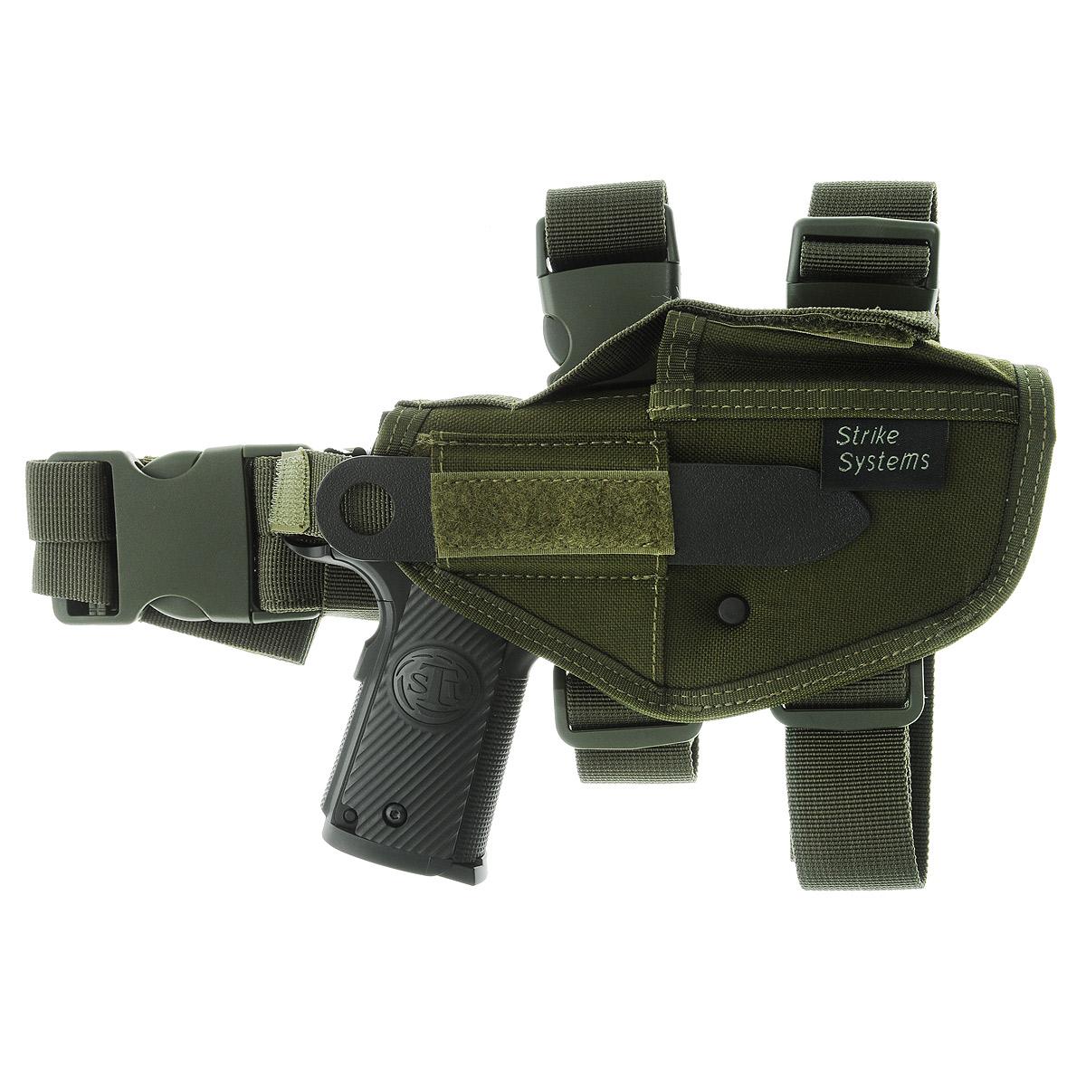 Кобура ASG набедренная для M92, G17/18, STI, CZ, Steyr, Bersa, цвет: Olive Drab (17319)527Кобура набедренная для пневматических и страйкбольных пистолетов серий M92, G17/18, STI, CZ, Steyr, Bersa (полноразмерные и среднеразмерные - Full Frame и Mid Frame) с подсумком для запасного магазина.Предназначена для ношения в тире и на полигоне. Показанные на фото оружие и аксессуары в комплект не входят. Не рассчитана на использование с боевым оружием.Регулируется по высоте.Застежка-фастекс для быстрого снятия.Два эластичных ремня с застежками для бедра.В комплекте приспособление для удобной регулировки.Двойные швы.Из износостойкого и влагостойкого нейлона.Возвраттоваравозможен только при наличии заключения сервисного центра.Время работы сервисного центра: Пн-чт: 10.00-18.00 Пт: 10.00- 17.00Сб, Вс: выходные дниАдрес: ООО ГАТО, 121471, г.Москва,ул.ПетраАлексеева,д12., тел. (495)232-4670, gato@gato.ruХарактеристики: Материал: нейлон, пластик. Размер кобуры: 31 см х 12 см х 7 см. Размер упаковки: 36 см х 26 см х 7 см. Артикул: 17319. Уважаемые покупатели, обращаем Ваше внимание что авиадоставка в нижеперечисленные города этого товара временно недоступна! 1. Ангарск 2. Благовещенск 3. Бодайбо 4. Братск 5. Владивосток 6. Воркута 7. Иркутск 8. Калининград 9. Надым 10. Нарьян-Мар 11. Находка 12. Норильск 13. Петропавловск-Камчатский 14. Салехард 15. Улан-Удэ 16. Уссурийск 17. Ухта 18. Хабаровск 19. Чита 20. Энергетик 21. Южно-Сахалинск 22. Якутск