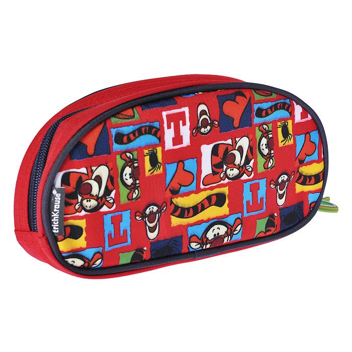 Мультипенал Erich Krause Tigger Trail, цвет: красный0013374Мультипенал Erich Krause Tigger Trail предназначен для хранения канцелярских принадлежностей. Он выполнен из прочного полиэстера красного цвета и оформлен изображениями друга Винни-Пуха - Тигры. Пенал содержит одно отделение, вмещающее большое количество фломастеров и карандашей, и закрывается на застежку-молнию.На лицевой стороне пенала находится кармашек, предназначенный для мелкой канцелярии, который также закрывается на застежку-молнию. Бегунок застежки дополнен подвешенным на металлическое кольцо брелоком в виде листика.Пенал послужит отличным помощником во время занятий и позволит сохранить порядок на рабочем столе. Характеристики:Материал: полиэстер, пластик, металл, резина. Размер пенала: 22 см х 10,5 см х 4,5 см. Изготовитель: Китай.
