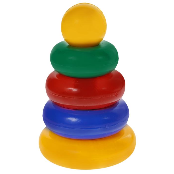 Пирамидка маленькая Строим вместе счастливое детство , 24, 5 см, Развивающие игрушки  - купить со скидкой