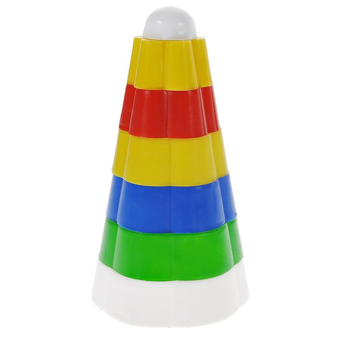 Пирамидка Цветок , Строим вместе счастливое детство, Развивающие игрушки  - купить со скидкой
