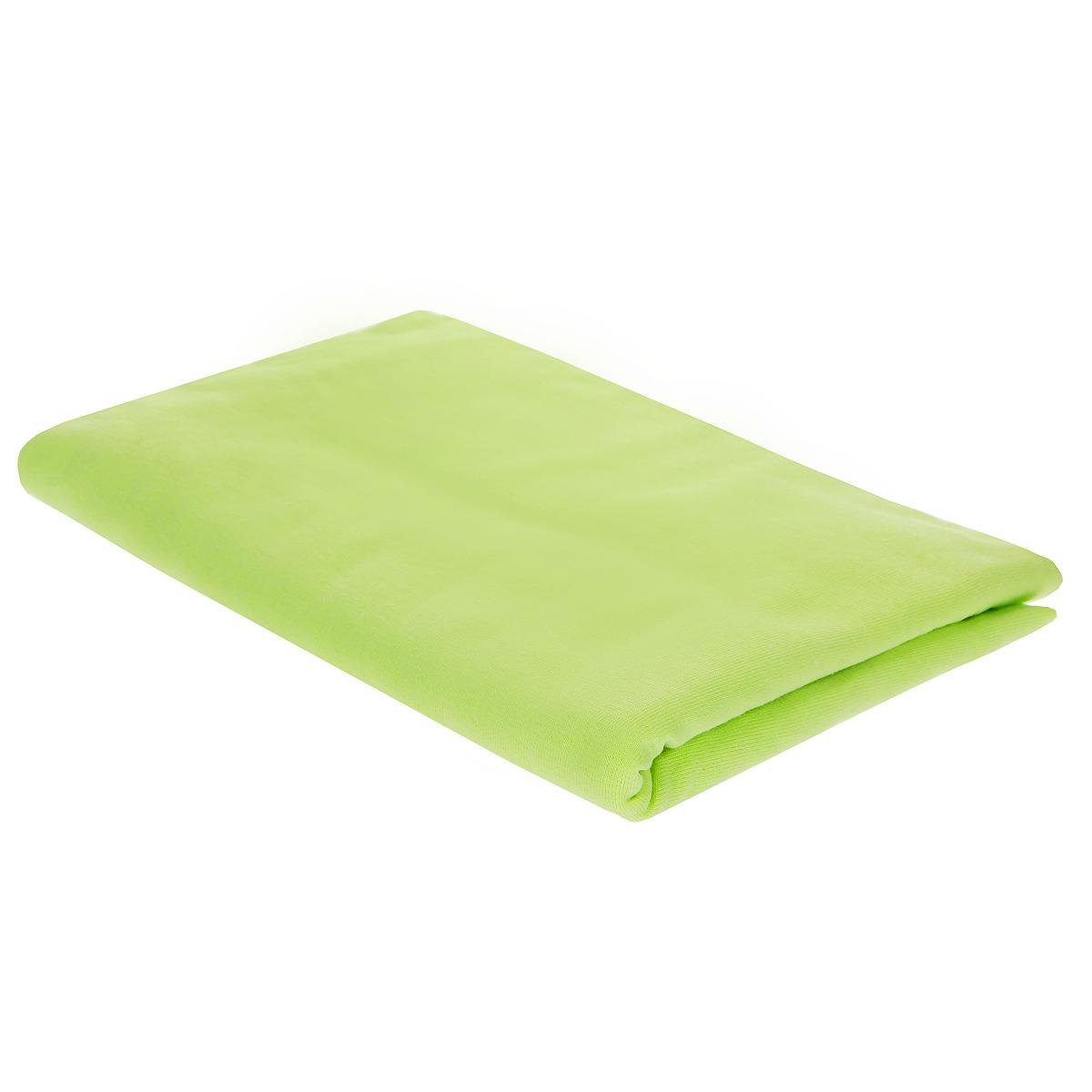 Пеленка трикотажная Трон-Плюс, цвет: салатовый, 120 см х 90 см5237Детская пеленка Трон-Плюс подходит для пеленания ребенка с самого рождения. Она невероятно мягкая и нежная на ощупь. Пеленка выполнена из кулирки - тонкого трикотажного материала из хлопка гладкого покроя. Такая ткань прекрасно дышит, она гипоаллергенна, почти не мнется и не теряет формы после стирки. Мягкая ткань укутывает малыша с необычайной нежностью. Пеленку также можно использовать как легкое одеяло в жаркую погоду, простынку, полотенце после купания, накидку для кормления грудью или солнцезащитный козырек. Ее размер подходит для пеленания даже крупного малыша. Характеристики:Размер пеленки: 120 см x 90 см.