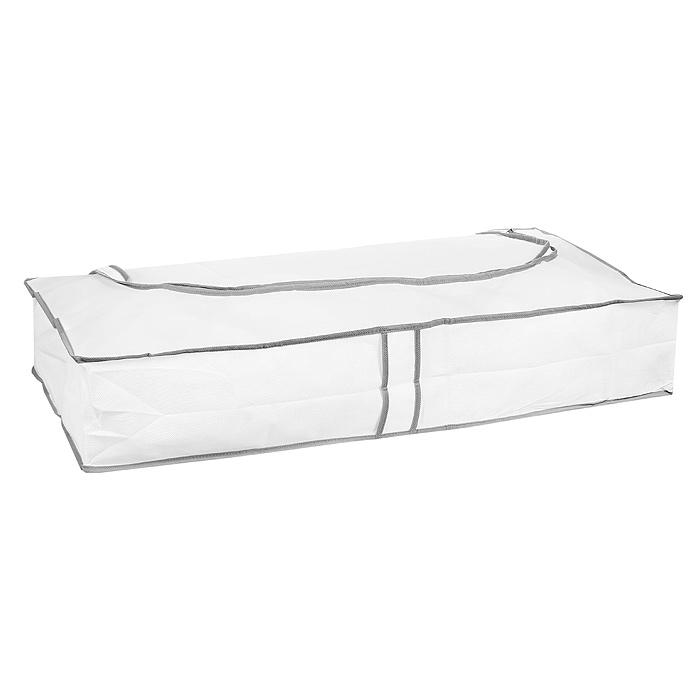 Кофр подкроватный Hausmann, цвет: белый, 80 х 40 х 15 смRG-D31SПодкроватный кофр Hausmann, выполненный из вискозы, прекрасно подходит для хранения белья, подушек, одеял, пледов, сезонной одежды. Он защитит ваши вещи от пыли и грязи, а прозрачная вставка позволит видеть содержимое кофра. Закрывается на молнию. Легко чистится при помощи влажной ткани. Характеристики: Материал: вискоза, полиэтилен. Цвет: белый. Размер: 80 см х 40 см х 15 см. Артикул: 2B-28040.