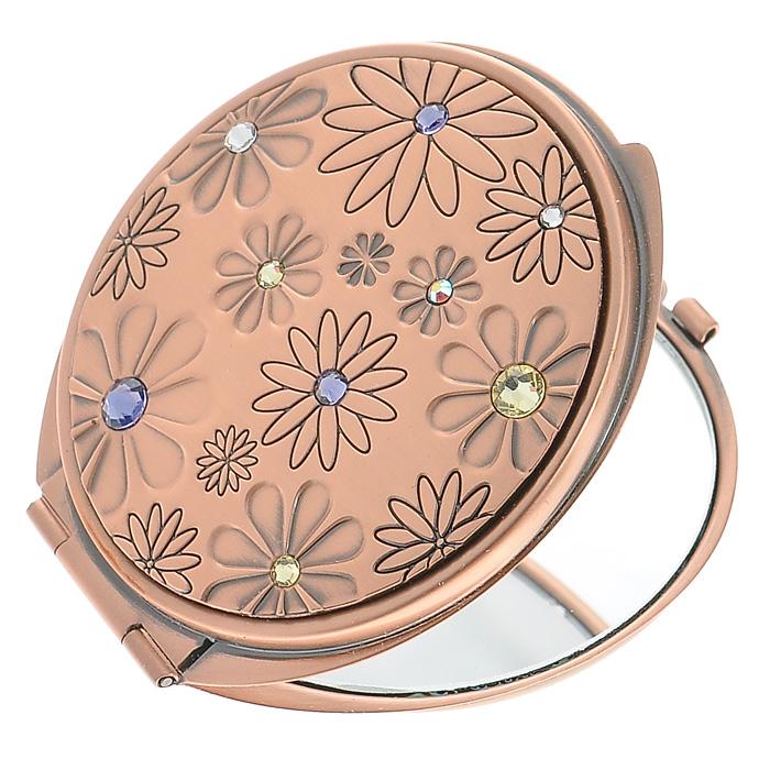 Зеркало двухстороннее Jardin DEte. 98-0962D215240029Компактное двухстороннее зеркало Jardin DEte станет незаменимым аксессуаром в сумочке любой модницы. В круглом стальном корпусе с покрытием из розового золота внутри находятся два зеркальца: обычное и увеличивающее. Корпус оформлен фигурной гравировкой в виде цветков, украшенных разноцветными стразами. Такое зеркальце станет отличным подарком представительнице прекрасного пола и подчеркнет ее неповторимый стиль. Зеркало упаковано в подарочную коробку розового цвета. В комплекте - текстильный мешочек на завязках для хранения. Характеристики:Материал: сталь, розовое золото, стекло. Диаметр зеркала: 5,5 см. Размер упаковки: 11 см х 12,5 см х 3 см. Изготовитель: Китай. Артикул: 98-0962.