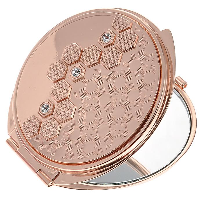 Зеркало двухстороннее Jardin DEte. 98-097860480Компактное двухстороннее зеркало Jardin DEte станет незаменимым аксессуаром в сумочке любой модницы. В круглом стальном корпусе с покрытием из розового золота внутри находятся два зеркальца: обычное и увеличивающее. Корпус оформлен рельефным изображением со стразами белого цвета. Такое зеркальце станет отличным подарком представительнице прекрасного пола и подчеркнет ее неповторимый стиль. Зеркало упаковано в подарочную коробку розового цвета. В комплекте - текстильный мешочек на завязках для хранения. Характеристики:Материал: сталь, розовое золото, стекло. Диаметр зеркала: 5,5 см. Размер упаковки: 11 см х 12,5 см х 3 см. Изготовитель: Китай. Артикул: 98-0978.