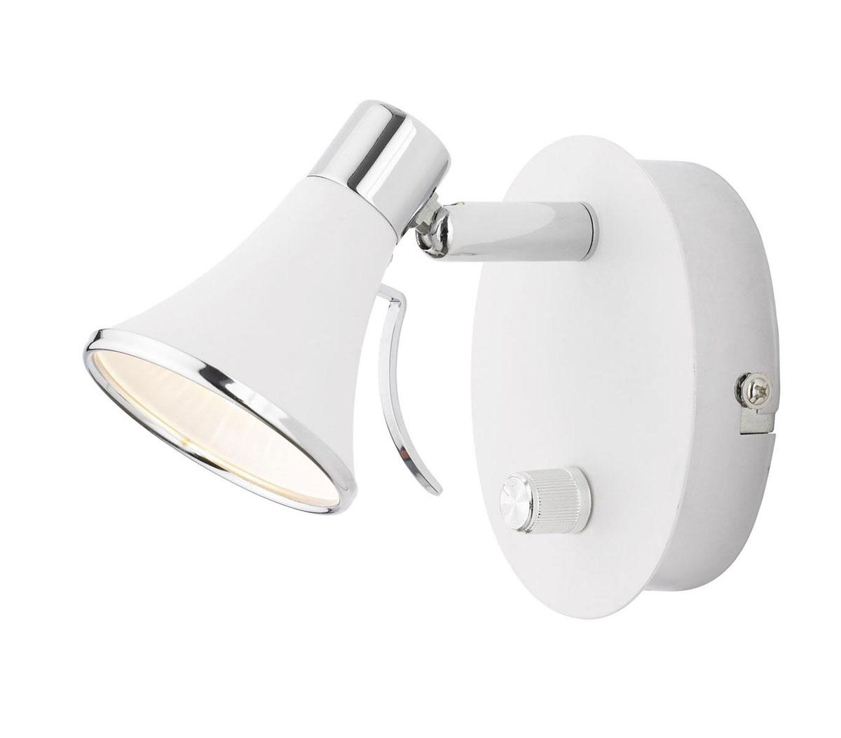 Светильник настенный LampGustaf Boston, цвет: белый. 08180223T4LWLСветильник настенный LampGustaf Boston выполненный в современном стиле отлично впишется в интерьер вашего дома. Он хорошо смотрится как в классическом, так и в современном помещении, на штукатурке, дереве или обоях любой расцветки.Для безопасной и надежной коммутации светильника в сеть на корпусе светильника установлена клеммная колодка. Светильник дает яркий ровный сфокусированный световой поток в выбранном направлении.Светильники и люстры - предметы, без которых мы не представляем себе комфортной жизни. Сегодня функции люстры не ограничиваются освещением помещения. Она также является центральной фигурой интерьера, подчеркивает общий стиль помещения, создает уют и дарит эстетическое удовольствие. Характеристики:Материал: металл. Размер светильника: 10 см х 12,5 см х 12 см. Количество лампочек: 1 (входит в комплект). Размер упаковки: 17 см х 13 см х 11 см.