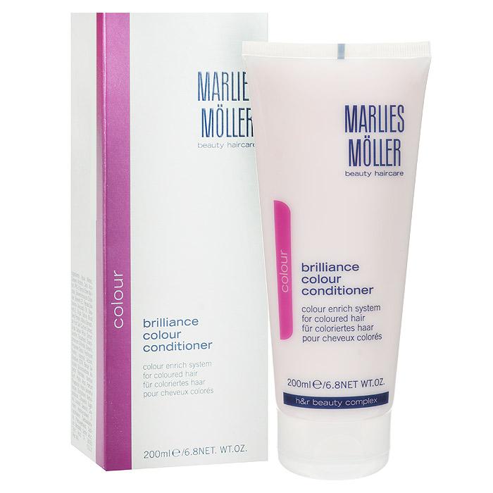Marlies Moller Кондиционер Brilliance Colour для окрашенных волос, 200 мл72523WDИнтенсивный ухаживающий крем-кондиционер. Закрывает кутикулу, восстанавливает поврежденные волосы. Делает их послушными, эластичными и блестящими. Облегчает расчёсывание. Защищает волосы от вредного воздействия УФ лучей. Укрепляет корни волос, приостанавливает появление седых волос. Не содержит силиконы.После применения шампуня, нанесите небольшое количество кондиционера, размером с 1-2 лесных ореха, в зависимости от длинны волос на кончики волос. Оставьте на несколько минут и затем тщательно смойте.
