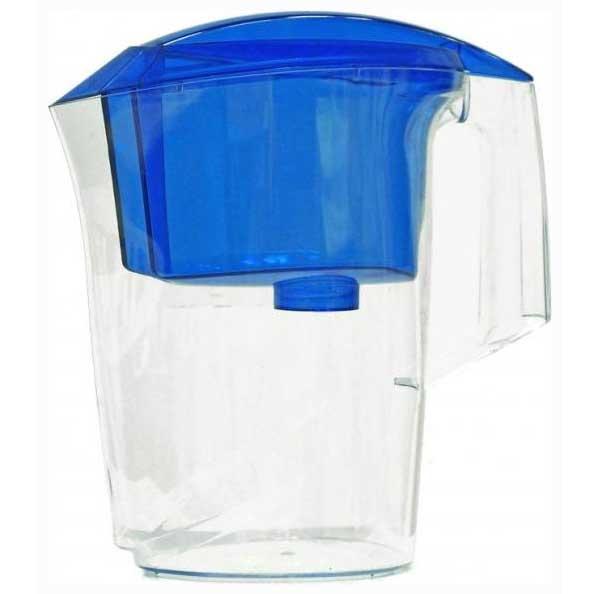 Фильтр-кувшин Гейзер Дельфин, цвет: синий4630003364517Фильтр-кувшин Гейзер Дельфин. Предназначен для очистки холодной водопроводной, скважинной и колодезной воды от ржавчины, растворенного железа, тяжелых металлов, хлора, органических соединений и других примесей. Улучшает вкус и цвет воды, а также устраняет неприятные запахи. Эффективность очистки воды от основных примесей в зависимости от качества исходной воды составляет до 100 %. Не рекомендуется использовать фильтр-кувшин для очистки воды спревышением норм ПДК (предельно допусти¬мая концентрация) более чем в 3 раза.Преимущества Фильтра-кувшина Гейзер Дельфин: - Картридж с материалом Каталон (100% защита от вирусов). - Компактный размер. - Эргономичный дизайн. - Современный пищевой пластик. - Герметичная крышка. В комплекте картридж Гейзер 301. Ресурс 200 литров. Дополнительная информация: Общий объем кувшина: 3 л. Объем приемной воронки: 1,4 л. Полезный объем: 1,6 л. Температура очищаемой воды до +40 °С. Скорость очистки от 0,4 до 0,2 л/мин. Цвет: синий.