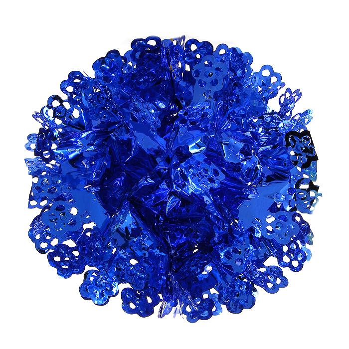 Новогодняя гирлянда Magic Time, цвет: синий. 3164026930Новогодняя гирлянда «Magic Time» прекрасно подойдет для декора дома и праздничной елки. Украшение выполнено из металлизированной фольги синего цвета в виде шара. С помощью специальной петельки его можно повесить в любом понравившемся вам месте. Легко собирается в шар.Новогодние украшения несут в себе волшебство и красоту праздника. Они помогут вам украсить дом к предстоящим праздникам и оживить интерьер по вашему вкусу. Создайте в доме атмосферу тепла, веселья и радости, украшая его всей семьей. Коллекция декоративных украшений из серии Magic Time принесет в ваш дом ни с чем несравнимое ощущение волшебства! Характеристики:Материал: металлизированная фольга (ПВХ). Цвет: синий. Высота украшения: 26 см.Размер упаковки: 16 см х 29 см х 0,5 см. Артикул: 31640.