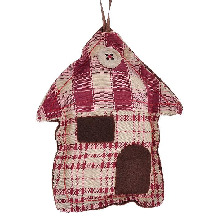 Новогоднее подвесное украшение Домик. 25315C0042416Оригинальное новогоднее украшение Домик выполнено из полиэстера с клетчатым рисунком с внешней стороны и полиэстера коричневого цвета с внутренней стороны. На крыше домика нашита пуговица. С помощью специальной текстильной петельки украшение можно повесить в любом понравившемся вам месте. Но, конечно, удачнее всего такая игрушка будет смотреться на праздничной елке.Новогодние украшения приносят в дом волшебство и ощущение праздника. Создайте в своем доме атмосферу веселья и радости, украшая всей семьей новогоднюю елку нарядными игрушками, которые будут из года в год накапливать теплоту воспоминаний. Характеристики:Материал: полиэстер. Цвет: бордовый, бежевый, коричневый. Размер украшения: 12 см х 10 см х 2 см. Артикул: 25315.