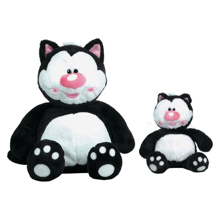 """Очаровательная мягкая игрушка """"Кот Котя"""", выполненная в виде забавного кота черного и белого цвета, вызовет умиление и улыбку у каждого, кто ее увидит. Удивительно мягкая игрушка принесет радость и подарит своему обладателю мгновения нежных объятий и приятных воспоминаний. Она выполнена из высококачественного искусственного меха с набивкой из гипоаллергенного синтепона. Великолепное качество исполнения делают эту игрушку чудесным подарком к любому празднику."""