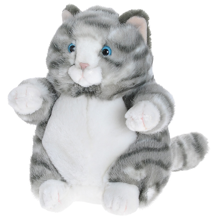 """Милый толстый котик, напоминает кота из м/ф про попугая Кешу. Такого пушистого толстячка можно полюбить уже за одну только умильную сытую мордочку! Чудесная мягкая игрушка """"Кот Пруденс"""" станет отличным подарком и верным другом Вашему малышу. Модель выполнена из мягкого текстильного материала с полимерными гранулами внутри, способствующими развитию мелкой моторики у детей и эмоциональной релаксации у взрослых."""