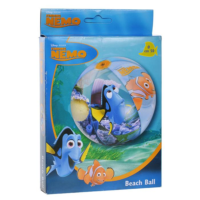 """Яркий надувной мяч Mondo """"В поисках Немо"""" станет незаменимым атрибутом летнего отдыха. Он изготовлен из прочного ПВХ и оформлен изображениями героев популярного мультфильма """"В поисках Немо"""". Мяч отлично подойдет для детских игр, как на пляже, так и в воде! Порадуйте своего ребенка таким замечательным подарком!"""