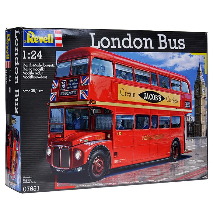 """Сборная модель Revell """"Лондонский автобус"""" поможет вам и вашему ребенку придумать увлекательное занятие на долгое время. Набор включает в себя 391 пластиковый элемент, из которых можно собрать достоверную уменьшенную копию лондонского двухэтажного автобуса. Также в наборе схематичная инструкция по сборке. Процесс сборки развивает интеллектуальные и инструментальные способности, воображение и конструктивное мышление, а также прививает практические навыки работы со схемами и чертежами."""