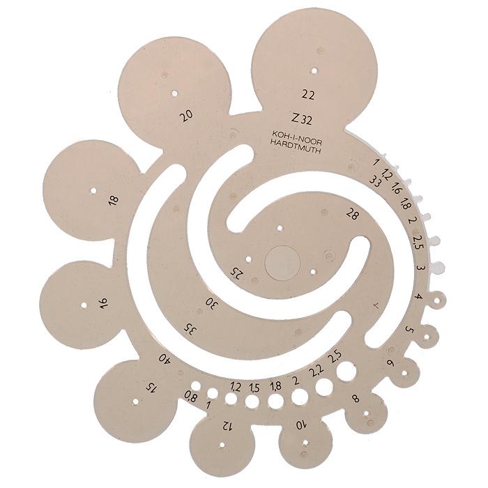 Шаблон геометрических радиусов Koh-i-Noor, цвет: дымчатый72523WDШаблон геометрических радиусов Koh-i-Noor будет полезен для геометрических построений. Он выполнен из прозрачного пластика дымчатого цвета. На линейки представлены шаблоны для окружностей радиусом от 1 мм до 40 мм. Характеристики: Размер шаблона: 16 см х 14,5 см.