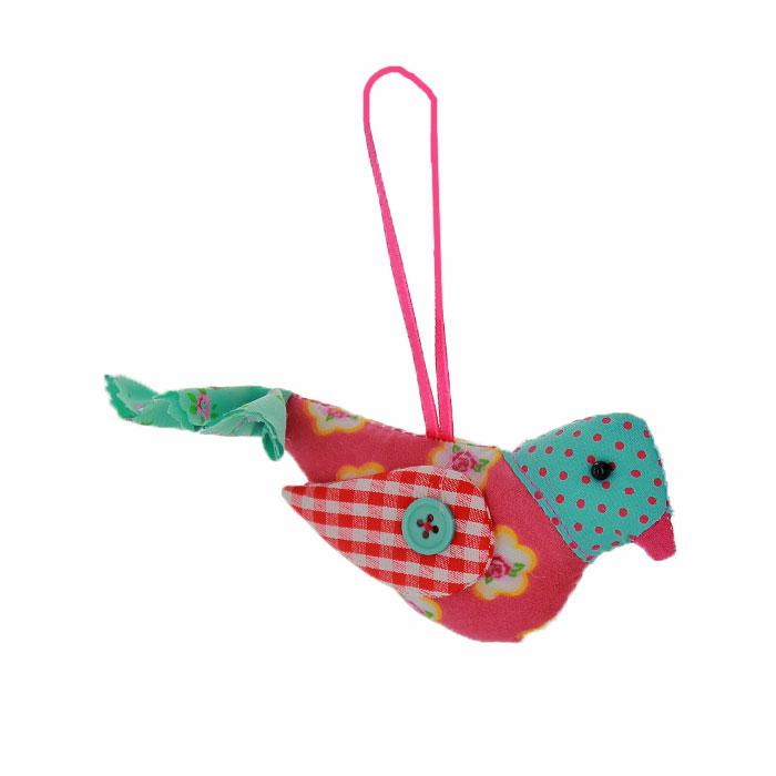 Новогоднее подвесное украшение Птичка, цвет: розовый, голубой. 2536734600Оригинальное новогоднее украшение выполнено из текстиля в виде птички. С помощью специальной ленты украшение можно повесить в любом понравившемся вам месте. Но, конечно же, удачнее всего такая игрушка будет смотреться на праздничной елке.Новогодние украшения приносят в дом волшебство и ощущение праздника. Создайте в своем доме атмосферу веселья и радости, украшая всей семьей новогоднюю елку нарядными игрушками, которые будут из года в год накапливать теплоту воспоминаний. Коллекция декоративных украшений из серии Magic Time принесет в ваш дом ни с чем несравнимое ощущение волшебства! Характеристики:Материал: полиэстер, пластик. Цвет: розовый, голубой. Размер украшения: 15 см х 8 см х 3,5 см. Артикул: 25367.