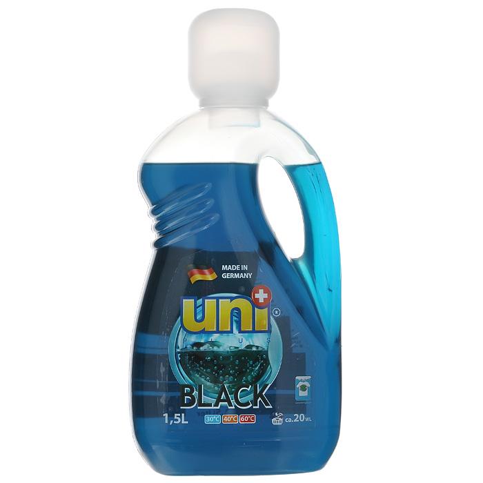 Гель для стирки UniPlus Black, 1,5 лK100Гель для стирки UniPlus Black предназначен для стирки черного и темного белья. Эффективно отстирывает при температуре от 30°C до 60°С. Специальная формула помогает сохранить форму, яркость и контрастность цветов и предотвратить линьку при стирке. Средство не содержит хлор и другие агрессивные вещества, благодаря чему не разрушается структура красок и тканей. Хорошо выполаскивается и не оказывает вредного влияния на кожу. После применения жидкого средства для стирки UNI+ ткань приобретает приятный аромат, мягкость, становится приятной на ощупь. В составе геля для стирки содержаться компоненты, которые защищают стиральную машину от образования известковых наслоений, что продлевает срок службы стиральной машины.Подходит для всех типов стиральных машин, а также для ручной стирки. В комплекте - мерной стаканчик. Характеристики:Объем: 1,5 л. Артикул: 200094. Товар сертифицирован.