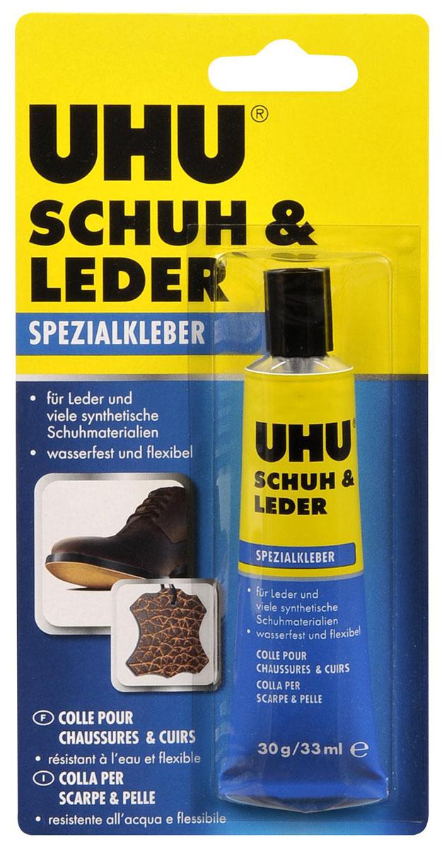 Клей UHU Schuh & Leder для кожи и обуви, 33 мл46680Клей UHU Schuh & Leder идеально подходит для склеивания твёрдых материалов (например, дерево, металл) с мягкими (кожа, резина, фетр, пробка и т.д.). Не подходит для мягкого ПВХ и стиропора. Клеевое соединение остаётся эластичным и компенсирует натяжения материалов.Устойчив к воде, спирту, а также к неконцентрированным кислотам и щелочам.Не рассыхается со временем и сохраняет прочность в температурном диапазоне от -20°С до +125°С.Склеивание:Склеиваемые поверхности должны быть чистыми, сухими и обезжиренными. Оптимальная рабочая температура от +15 до +30 °С. Низкие температуры и высокая влажность являются препятствием для прочного склеивания.Возможны 3 способа склеивания:А) контактное склеиваниеКлей необходимо наносить ТОНКИМ слоем, на впитывающих поверхностях – многократно, пока не образуется плёнка. При этом новый слой можно наносить только после того, как подсох предыдущий. Дайте клеевому слою подсохнуть до тех пор, пока Клей не прекратит прилипать к пальцам при касании (в зависимости от температуры это займёт от 10 до 15 минут). После этого прижмите склеиваемые части друг к другу на короткое время. Корректировка после этого невозможна!!! На качество склеивания влияет сила сжатия, а не продолжительность пребывания изделия под давлениемБ) склеивание с тепловым активированием…рекомендуется применять, если требуется сверхвысокая прочность соединения, а также если требуется достичь максимальной устойчивости к высоким температурам. Клей необходимо наносить ТОНКИМ слоем, на впитывающих поверхностях – многократно, пока необразуется плёнка. При этом новый слой можно наносить только после того, как подсох предыдущий. Дайте клеевому слою полностью высохнуть. После этого В ЛЮБОЙ МОМЕНТсклеиваемые части можно прижать друг к другу и соединить воздействиемтемпературы в диапазоне от +120 до +150°С (например, термопрессом, инфракрасной лампой, при склеивании мелких деталей – утюгом). Необходимо обращать внимание на то, чтобы данна