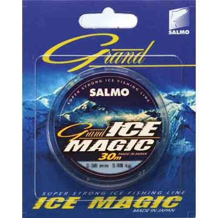 Леска зимняя Salmo Grand Ice Magic, сечение 0,08 мм, длина 30 м54243Современная монофильная леска. Изготовленная в Японии с использованием самого высококачественного сырья и новейших технологий. Она не теряет свою прочность и эластичность даже при -50 градусном морозе.Особенности:высочайшая прочность;высокая износостойкость;отсутствие «памяти»;идеально калиброванная, гладкаяповерхность. Характеристики: Тест:0,88 кг. Длина:30 м. Сечение:0,08 мм. Цвет:прозрачный. Размер упаковки:12 см х 10 см х 1 см. Артикул:4910-008.