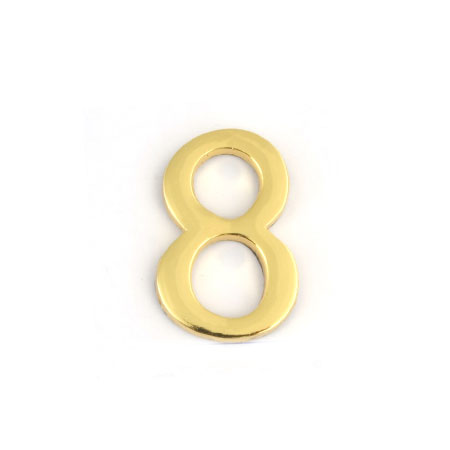 Цифра для обозначения номера квартиры 8, цвет: золотистый94672Цифра 8 для обозначения номера квартиры выполнена из золотистого металла. Устанавливается с помощью липкого слоя, нанесенного на обратную сторону изделия. Характеристики: Материал: металл. Цвет: золотистый. Размер цифры: 2,8 см х 4,3 см х 0,5 см. Размер упаковки: 12 см х 6 см х 0,7 см. Артикул: 67298.