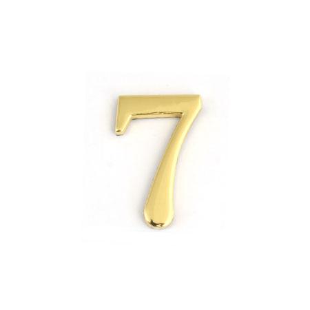 Цифра для обозначения номера квартиры 7, цвет: золотистыйPL60/2Цифра 7 для обозначения номера квартиры выполнена из золотистого металла. Устанавливается с помощью липкого слоя, нанесенного на обратную сторону изделия. Характеристики: Материал: металл. Цвет: золотистый. Размер цифры: 2,8 см х 4,3 см х 0,5 см. Размер упаковки: 12 см х 6 см х 0,7 см. Артикул: 67297.