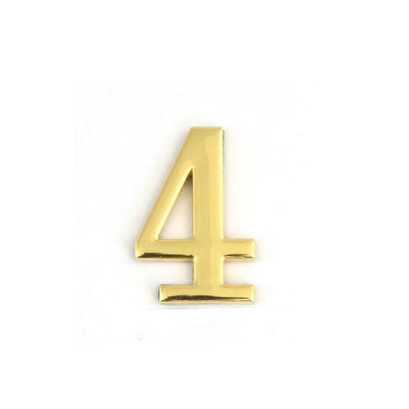 Цифра для обозначения номера квартиры 4, цвет: золотистый54 009312Цифра 4 для обозначения номера квартиры выполнена из золотистого металла. Устанавливается с помощью липкого слоя, нанесенного на обратную сторону изделия. Характеристики: Материал: металл. Цвет: золотистый. Размер цифры: 3 см х 4,4 см х 0,5 см. Размер упаковки: 12 см х 6 см х 0,7 см. Артикул: 67294.