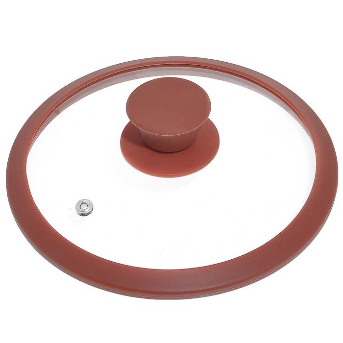 Крышка стеклянная Winner, цвет: коричневый. Диаметр 16 см68/5/3Крышка Winner изготовлена из термостойкого стекла с ободом из силикона. Крышка оснащена отверстием для выпуска пара. Ручка, выполненная из термостойкого бакелита с силиконовым покрытием, защищает ваши руки от высоких температур. Крышка удобна в использовании и позволяет контролировать процесс приготовления пищи. Характеристики:Материал:стекло, силикон, бакелит. Диаметр: 16 см. Изготовитель: Германия. Производитель: Китай. Размер упаковки: 16,6 см х 16,6 см х 4 см. Артикул: WR-8300.