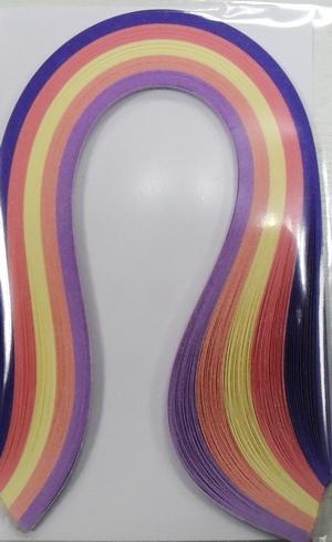 Набор бумаги для квиллинга, оттенки розового, полоски 0,3 см х 30 см, 5 цветов, 100 штC0042416Квиллинг - искусство изготовления плоских или объемных композиций из скрученных в спиральки длинных и узких полосок бумаги. Из бумажных спиралей создают цветы и узоры, которые затем используют обычно для украшения открыток, альбомов, подарочных упаковок, рамок для фотографий. Это простой и очень красивый вид рукоделия, не требующий больших затрат. Изделия из бумажных лент можно использовать также как настенные украшения или даже бижутерию. Характеристики:Материал: бумага. Цвет: розовый желтый, оранжевый, фиолетовый, темно-фиолетовый. Количество в упаковке: 100 шт. Размер 1 полоски: 0,3 см х 30 см. Размер упаковки: 15 см х 10 см х 0,5 см.