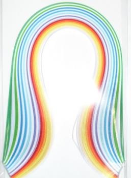 Набор бумаги для квиллинга, цвет: ассорти, полоски 0,3 см х 30 см, 12 цветов, 100 штC0044702Квиллинг - искусство изготовления плоских или объемных композиций из скрученных в спиральки длинных и узких полосок бумаги. Из бумажных спиралей создают цветы и узоры, которые затем используют обычно для украшения открыток, альбомов, подарочных упаковок, рамок для фотографий. Это простой и очень красивый вид рукоделия, не требующий больших затрат. Изделия из бумажных лент можно использовать также как настенные украшения или даже бижутерию. Характеристики:Материал: бумага. Цвет: темно-зеленый, белый, зеленый, темно-синий, синий, голубой, темно-фиолетовый, фиолетовый, темно-красный, красный, оранжевый, желтый. Количество в упаковке: 100 шт. Размер 1 полоски: 0,3 см х 30 см. Размер упаковки: 15 см х 10 см х 0,5 см.