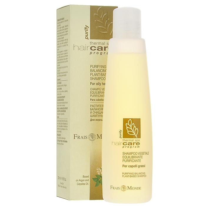 Frais Monde Шампунь очищающий, для жирных волос, 200 млFS-36054Очищающий шампунь создан на основе сернистой термальной воды, благодаря чему очень мягко очищает жирные волосы, освежая и дезинфицируя волосяной покров. Аргановое масло образует защитную пленку, обезжиривает и защищает кожу головы, масло копаиба обладает антисептическим действием и смягчает волосы. Экстракты олигосахаридов из пальчатой ламинарии и смесь аминокислот из вытяжки аскофиллума узловатого регулируют сальную секрецию, уменьшают выработку кожного сала и оказывают регенерирующее действие. Средство гипоаллергенно, РН сбалансировано, не раздражает глаза. Характеристики:Объем: 200 мл. Артикул: НС004. Производитель: Италия. Товар сертифицирован.