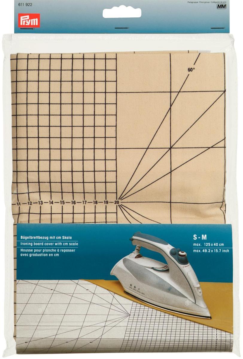 Чехол для гладильной доски Prym с сантиметровой шкалой, размер S-MGC020/00Чехол для гладильной доски Prym изготовлен из хлопка. Имеется специальная сантиметровая шкала. Является профессиональной подложкой для утюжки при рукоделии и особенно при шитье. Характеристики:Материал:хлопок. Размер: 125 см х 40 см Производитель: Германия. Артикул: 263431.