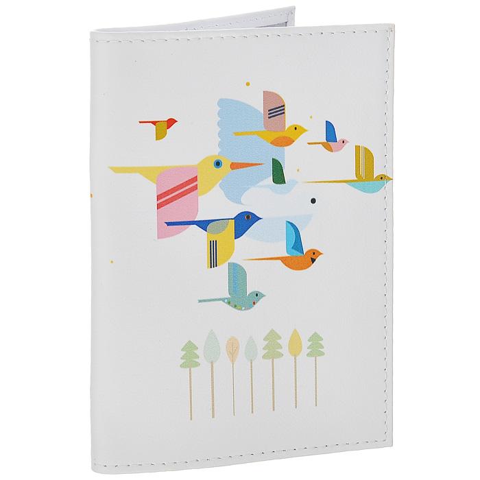 Обложка для паспорта Птицы на светло-розовом. OK218PS-PR-0049Обложка для паспорта Mitya Veselkov, выполненная из натуральной кожи, оформлена изображением разноцветных птиц на белом фоне. Такая обложка не только поможет сохранить внешний вид ваших документов и защитит их от повреждений, но и станет стильным аксессуаром, идеально подходящим вашему образу. Яркая и оригинальная обложка подчеркнет вашу индивидуальность и изысканный вкус. Обложка для паспорта стильного дизайна может быть достойным и оригинальным подарком.Характеристики:Материал: натуральная кожа, пластик. Размер (в сложенном виде): 9,5 см х 13,5 см. Артикул: OK218.