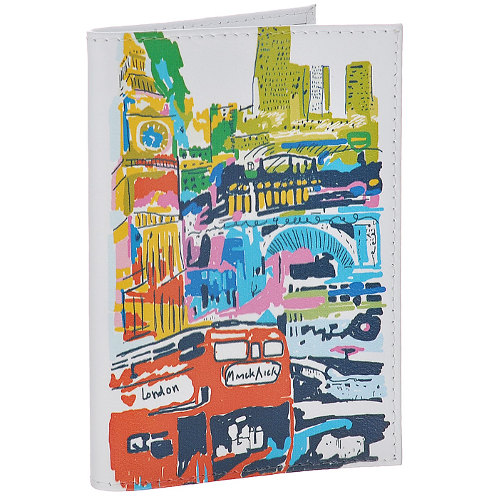 Обложка для паспорта Лондон в красках. OK196O.21.-1.cognacОбложка для паспорта Mitya Veselkov, выполненная из натуральной кожи, оформлена изображением Лондона. Такая обложка не только поможет сохранить внешний вид ваших документов и защитит их от повреждений, но и станет стильным аксессуаром, идеально подходящим вашему образу. Яркая и оригинальная обложка подчеркнет вашу индивидуальность и изысканный вкус. Обложка для паспорта стильного дизайна может быть достойным и оригинальным подарком.Характеристики:Материал: натуральная кожа, пластик. Размер (в сложенном виде): 9,5 см х 13,5 см. Артикул: OK196.