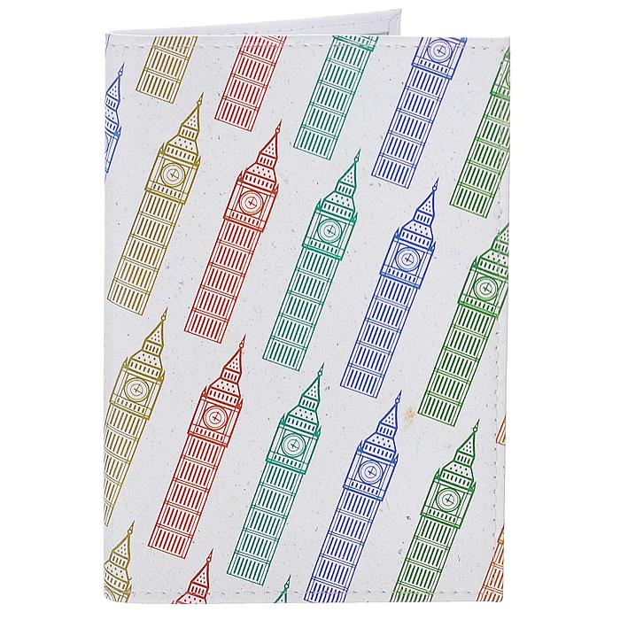 Обложка для паспорта Биг-Бены на молочном. OK214OK416Обложка для паспорта Mitya Veselkov, выполненная из натуральной кожи, оформлена изображением разноцветных башен Биг-Бен на белом фоне. Такая обложка не только поможет сохранить внешний вид ваших документов и защитит их от повреждений, но и станет стильным аксессуаром, идеально подходящим вашему образу. Яркая и оригинальная обложка подчеркнет вашу индивидуальность и изысканный вкус. Обложка для паспорта стильного дизайна может быть достойным и оригинальным подарком.Характеристики:Материал: натуральная кожа, пластик. Размер (в сложенном виде): 9,5 см х 13,5 см. Артикул: OK214.