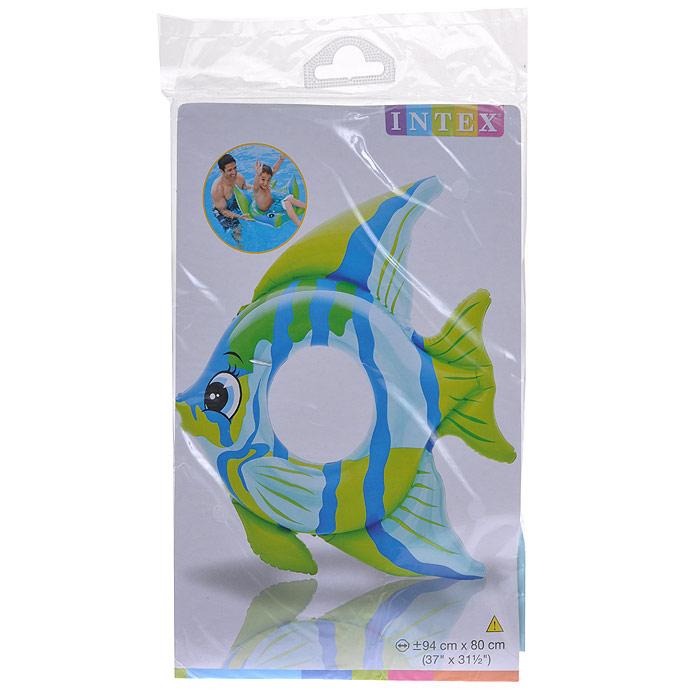 """Надувной круг Intex """"Тропические рыбки"""" выполнен из прочного винила ярких цветов в виде рыбки. Плавники игрушки придают ей дополнительную устойчивость на воде. Надувной круг Intex """"Тропические рыбки"""" станет незаменимым атрибутом летнего отдыха для вашего малыша! Гарантия производителя: 30 дней."""