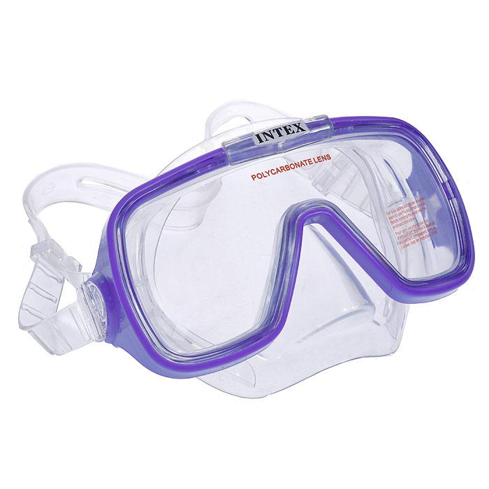 """Маска Intex """"Wave Rider"""" предназначена для плавания под водой или на поверхности воды. Маска с яркой оправой идеально подходит для детей. Натяжение ремешка можно регулировать. Кайма из ПВХ обеспечивает плотное прилегание, а линзы из поликарбоната - отличный обзор. Маска гипоаллергенна, материалы не вызывают раздражение на коже лица. Маска для плавания даст вашему малышу свободу и маневренность во время изучения подводных глубин, на время превращая его в настоящего подводного обитателя. Порадуйте его таким замечательным подарком! Гарантия производителя: 30 дней."""