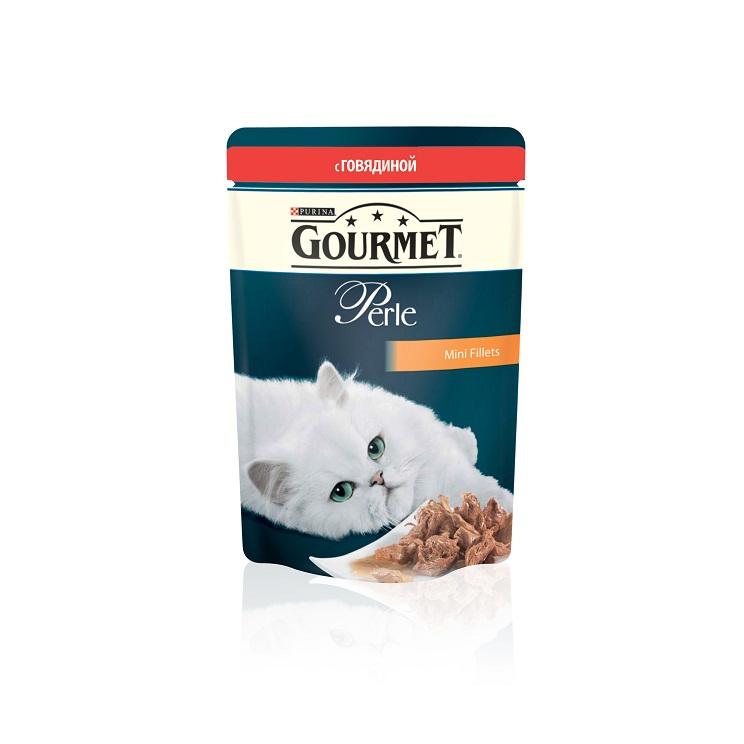 Консервы для кошек Gourmet Perle, мини-филе с говядиной, 85 г0120710Ваша кошка - настоящий гурман, и порой ей сложно угодить. Корм Gourmet Perle - это изысканное угощение с превосходным вкусом, которым ваша кошка будет наслаждаться каждый день. Ваш гурман оценит нежнейшие кусочки с мясом или рыбой, приготовленные в аппетитном соусе.Корм Gourmet Perle - изысканное угощение на каждый день.Рекомендации по кормлению: Суточная норма: 3-4 пакетика в день для взрослой кошки (средний вес 4 кг), в два приема.Данная суточная норма рассчитана для умеренно активных взрослых кошек, живущих в условиях нормальной температуры окружающей среды. В зависимости от индивидуальных потребностей кошки норма кормления может быть скорректирована для поддержания нормального веса вашей кошки.Подавайте корм комнатной температуры. Следите, чтобы у вашей кошки всегда была чистая, свежая питьевая вода.Условия хранения: Закрытый пакетик хранить в сухом прохладном месте. После открытия продукт хранить в холодильнике максимум 24 часа.Состав: мясо и продукты переработки мяса (в том числе говядины 4%), экстракт растительного белка, рыба и продукты переработки рыбы, минеральные вещества, сахара, витамины, красители.Гарантируемые показатели: влажность 79.0%, белок 14.0%,жир 2.5%, сырая зола2.2%, сырая клетчатка 0.5%.Добавленные вещества: МЕ/кг: витамин A: 800; витамин D3: 120; витамин Е: 18; мг/кг: железо: 9; йод: 0,2; медь: 0,8; марганец: 1,8; цинк: 15.Вес: 85 г.Товар сертифицирован.
